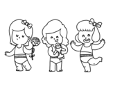 Triplets coloring page
