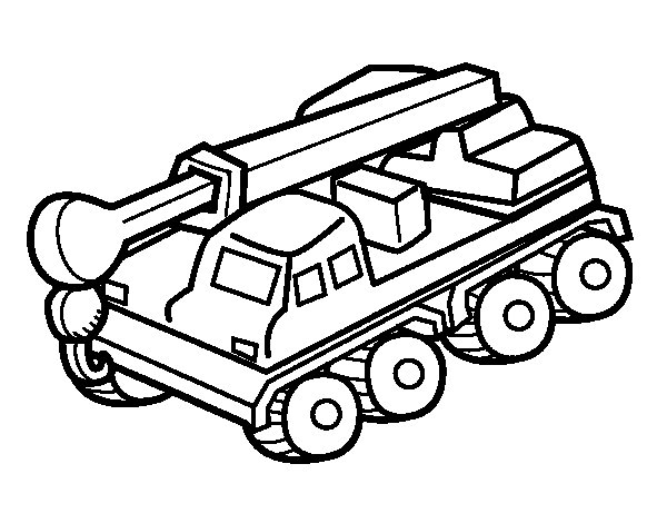 Truck crane coloring page