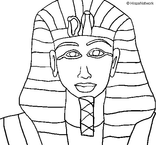 Tutankamon coloring page