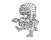 Tutankamon mummy coloring page