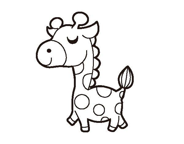 Vain giraffe coloring page