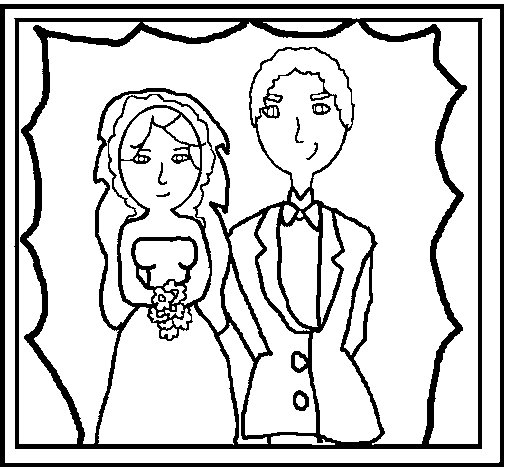 Wedding photography coloring page