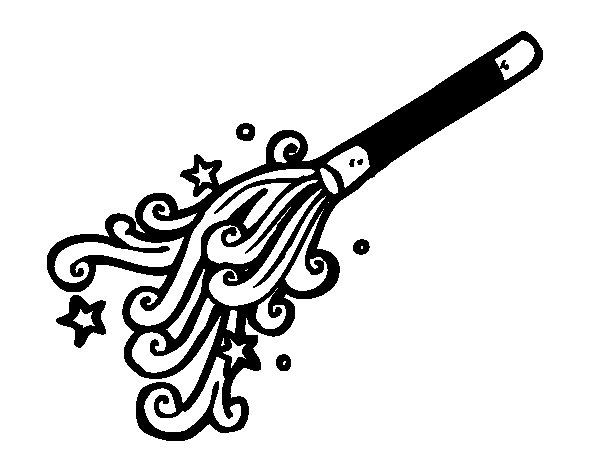 Wizard Wand Coloring Page