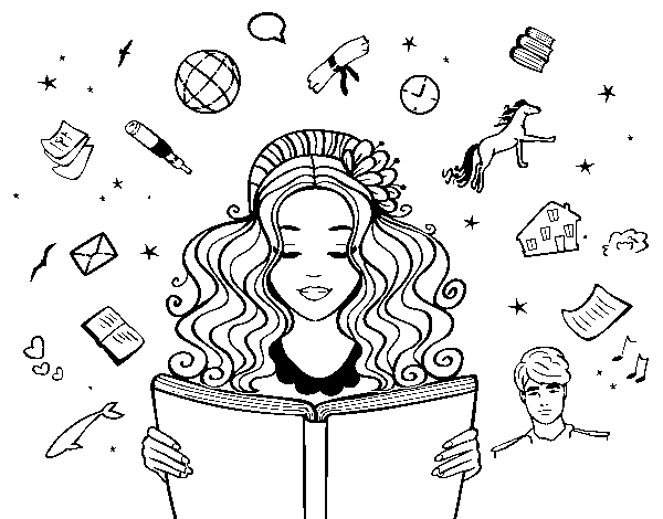 World Book Day coloring page