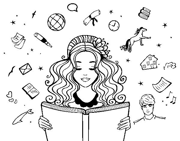 Día Del Libro Book Coloring Pages
