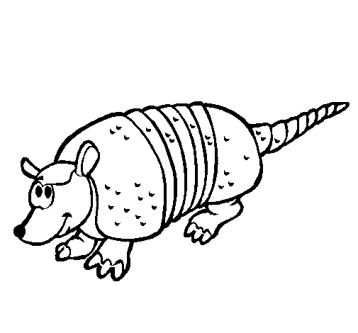 Coloring page Armadillo painted bygabi