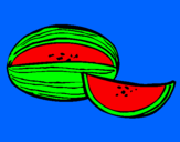 Coloring page Melon painted byGIUSEPPE