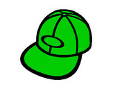 Coloring page Peaked cap painted byCarmen