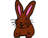 Coloring page Rabbit painted byeden