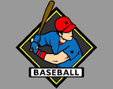 Coloring page Baseball logo painted byBigricxi
