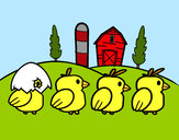Coloring page Chicks painted byBigricxi