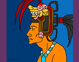 Coloring page Tribal chief painted byShebear