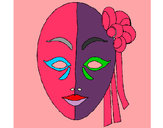 Coloring page Italian mask painted byGemma