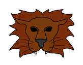 Coloring page Lion painted byKiara