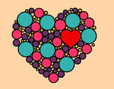 Coloring page Heart with circulate painted byAutumn