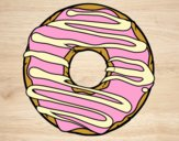 Coloring page Donut painted bybarbie_kil