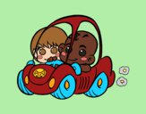 Coloring page Boys driving painted bybarbie_kil