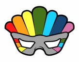 Coloring page Mask with plumes painted byredhairkid