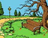Coloring page Landscape park painted bytwist