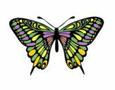 Coloring page Great Mormon Butterfly painted byemma7200
