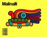 Coloring page The Aztecs days: the grass Malinalli painted bymindella