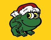 Coloring page Christmas Frog painted byKArenLee