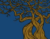 Coloring page Tree ghostly painted byKArenLee