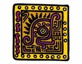 Coloring page Maya symbol painted byKArenLee