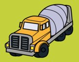 Coloring page Concrete Mixer Truck painted byKArenLee