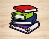 Coloring page Stack of books painted byBeautyWWE