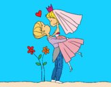 Coloring page You can kiss the bride painted bymindella