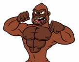 Coloring page Strong gorilla painted bykknaster
