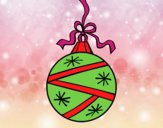 Coloring page A Christmas round ball painted byGramanana4