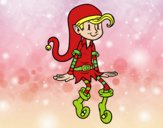 Coloring page Elf sitting painted byGramanana4