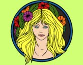 Coloring page Princess of the forest 2 painted byAish
