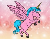 Coloring page Young unicorn painted byGramanana4