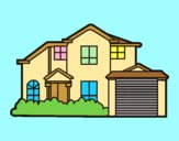 Coloring page Detached house painted byAnia