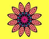Flower mandala with petals