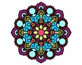 Coloring page Mandala meeting painted byysha