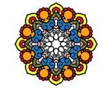Coloring page Mandala meeting painted bysumu