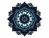 Coloring page Mandala to relax painted byysha