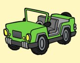 Coloring page Jeep painted byAnia