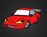 Coloring page Sports car with aileron painted byAnia