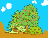 Coloring page Forest painted byALAN