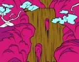 Coloring page Waterfall painted bygobishop