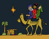 Coloring page The Wise Men painted byCharlotte