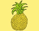 Coloring page pineapple painted byAnia
