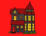 Coloring page Classical manor house painted byCherokeeGl