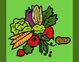 Coloring page vegetables painted byCherokeeGl