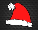 Coloring page A Santa Claus Christmas hat painted byAnia